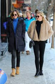 canada goose womens boots dakota johnson with emily ward in aspen december 30 2015 pony