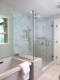 bathroom shower doors ideas bathroom design eclectic family room barrier free shower with