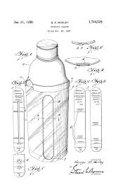 cocktail drawing patent us1744328 cocktail shaker google patents