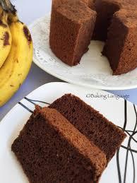 double chocolate banana chiffon baking language