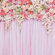 flower backdrop pink flower backdrop wedding floral printed