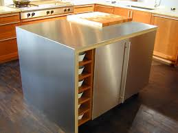 food prep brooks custom kitchen countertops stainless steel island top with integral cutting board