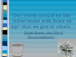 silver boxes with bows on top dippers drops and silver boxes