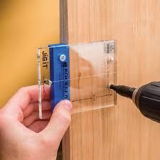 Cabinet Door Hinge Jig Jig It Hinge Plate Template For Inset Door Hinges Rockler