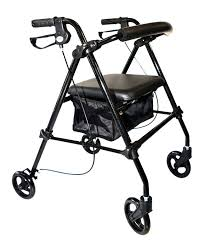 senior walkers with seat walkers walking aids rollators accessories mobb hhc