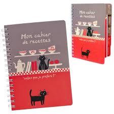 cahier de cuisine vierge cahier vierge à recettes de cuisine bonne compagnie décor chats