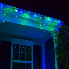 70 5mm led icicle lights blue green white wire yard envy