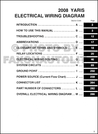 electrical wiring diagram idea of 2008 toyota yaris wiring diagram