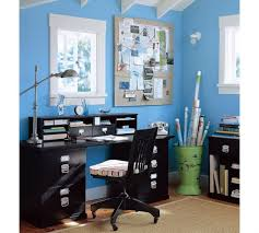 furniture vintage home office with light blue wall decor