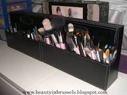 beauty in brussels makeup storage idea