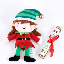 elf soft toy and activity book set card factory