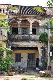 colonial architecture kot colonial architecture ruin cambodia stock image