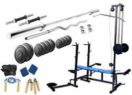 Weight Bench Package Protoner 20 Kgs 20 In 1 Bench Weight Lifting Home Gym Fitness