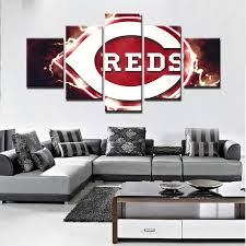 cincinnati reds home decor cincinnati reds mlb baseball 5 panel canvas wall art home decor