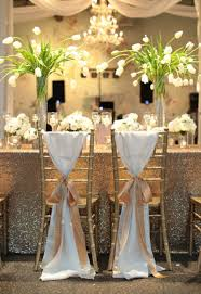chair sashes for weddings sparkling sequin winter wedding chair sashes wedding chair