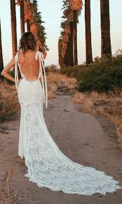 backless wedding dresses o keeffe backless lace bohemian wedding dresses open back weddi