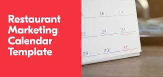 restaurant marketing calendar template grubhub