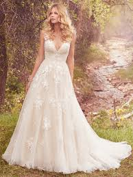 cheap maggie sottero wedding dresses 2017 new coming maggie sottero tank v neck a line wedding dress