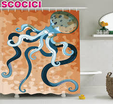 octopus decor octopus decor shower curtain set giant octopus with long legs