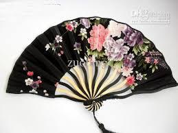 held fans for wedding 7 tassel wedding bridal fan floral silk