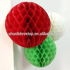 paper decorative items tree honeycomb balls for