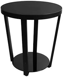 modern round end table amazon com lifewit 2 tier modern round side end table