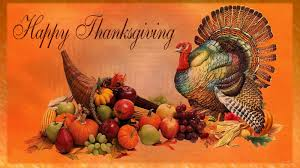 happy thanksgiving day pumpkin turkey feast hd wallpaper