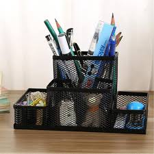 Wire Mesh Desk Accessories by Metal Mesh Office Desktop Organizer Pen Pencil Box Stationery