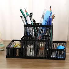 Desk Top Organizer by Metal Mesh Office Desktop Organizer Pen Pencil Box Stationery