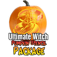ultimate witch pumpkin stencil package ultimate pumpkin stencils