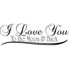 design on style i you to the moon and back vinyl wall