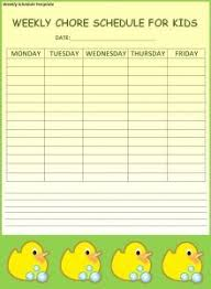 weekly schedule template excel pdf formats