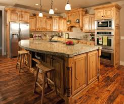 Kitchen Countertops And Backsplash Pictures What Countertop Would Look Good With Hickory Cabinets Google