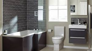 bathrooms with grey walls wall mount sink metal chrome high single