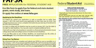 editorial earlier fafsa a boost to college bound kids