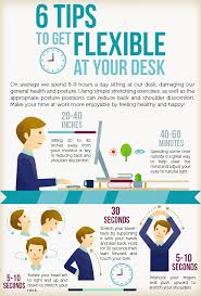 Desk Exercises At Work 6 Tips To Get Flexible At Your Desk Infographic Rymax