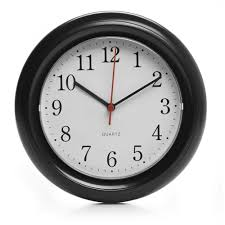 wilko round wall clock black at wilko com