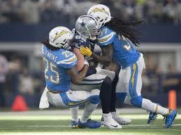 cowboys stuffed by chargers for third loss