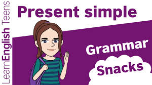 grammar snacks the present simple youtube