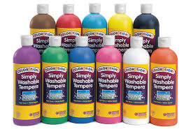 colorations simply washable tempera paint 16 oz set of 11 colors