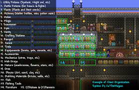 Terraria Vanity Clothes Simple Chest Organization System Terraria Community Forums