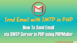 tutorial php web send email via smtp server in php using phpmailer web development