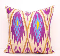 orchid pillow cover ikat