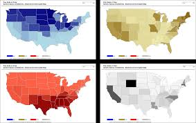 Choropleth Map Example Multicolored Choropleth Maps With Excel Clearly And Simply