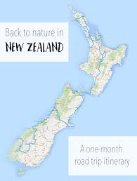 Air New Zealand Route Map by New Zealand Road Trip North Island Itinerary
