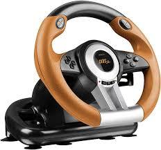 gaming steering wheel speedlink drift o z gaming racing wheel for pc sl 6695 bkor 01