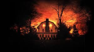 creepy crimson sky halloween background what scares you