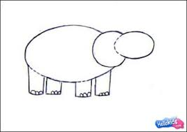 how to draw hippopotamus hellokids com