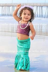 Baby Mermaid Halloween Costume Mermaid Party Mermaid Halloween Costume Shirt Halter
