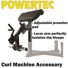 powertec curl machine accessory wb cma16 preacher bench bicep arm